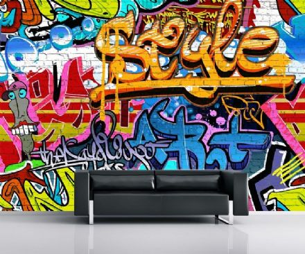 Graffiti paper wallpaper